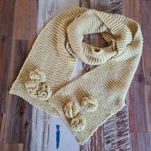 Mustard Yellow Hand Knitted Scarf